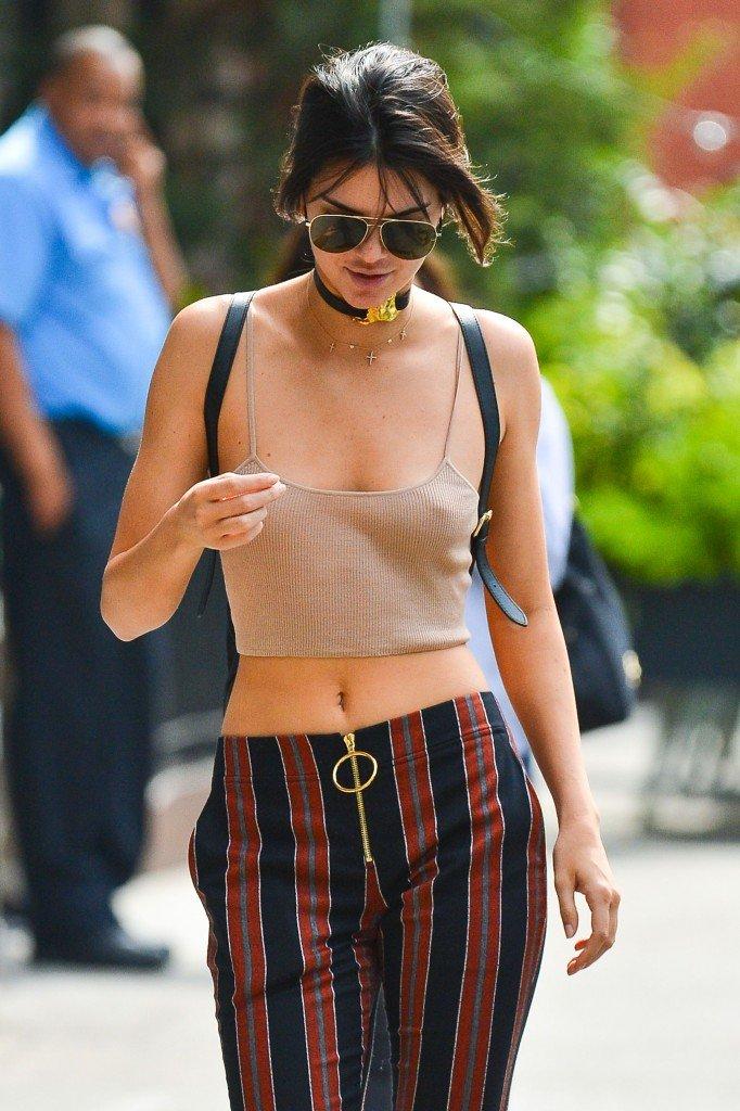 Kendall Jenner Braless (14 Photos)