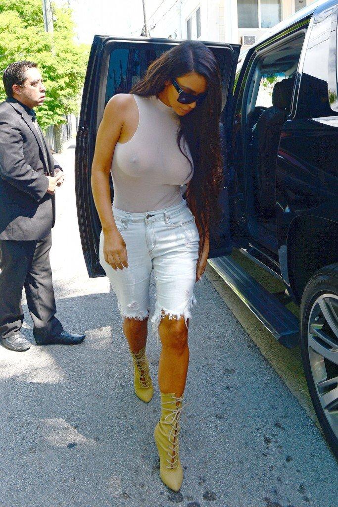 Kim Kardashian See Through 1