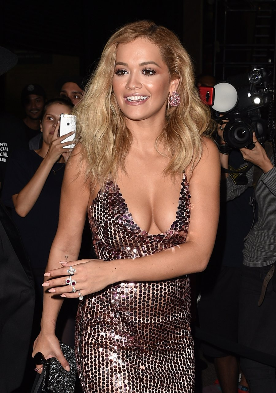 Rita ora huge cleavage 8