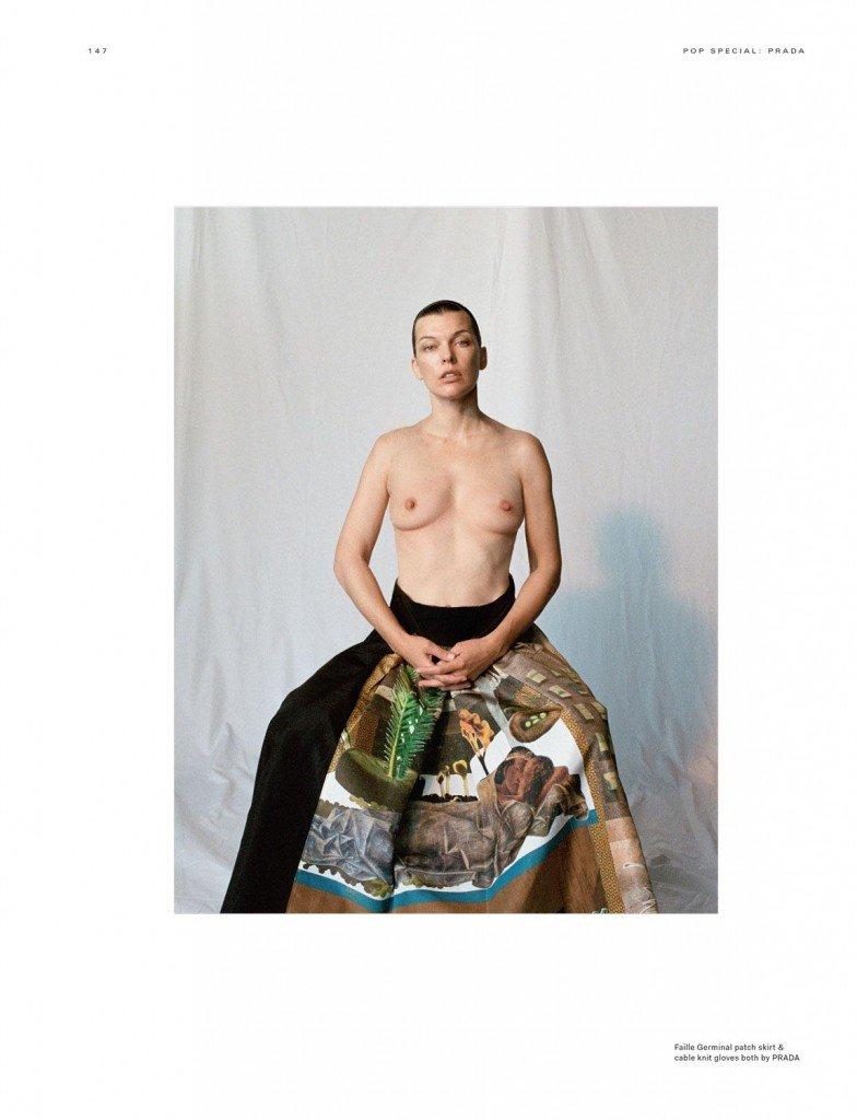 Milla Jovovich Sexy Topless 3