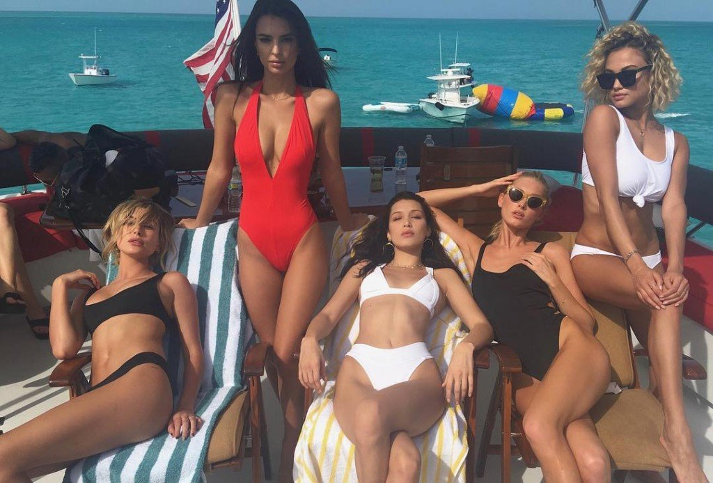 Hailey Baldwin, Emily Ratajkowski, Bella Hadid, Elsa Hosk, Rose Bertram Sexy 2