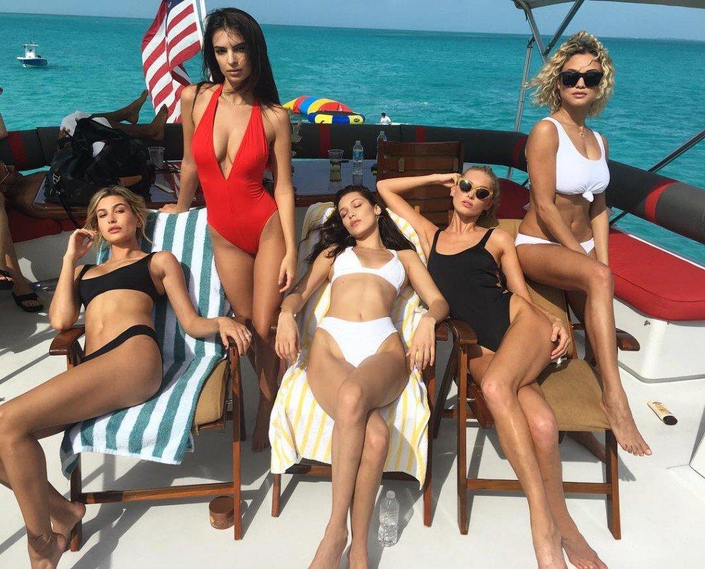 Hailey Baldwin, Emily Ratajkowski, Bella Hadid, Elsa Hosk, Rose Bertram Sexy 3