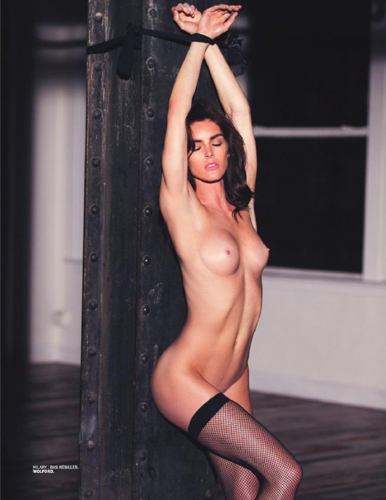 Hilary Rhoda Topless 1