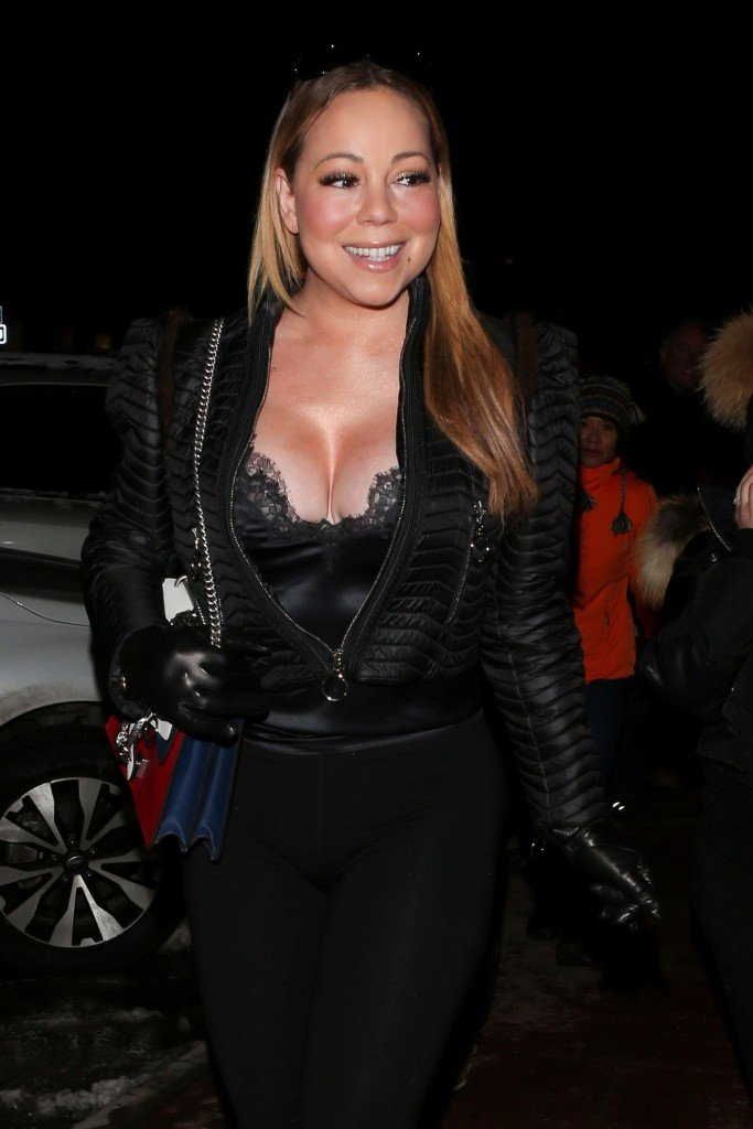 Mariah carey big cleavage question interesting
