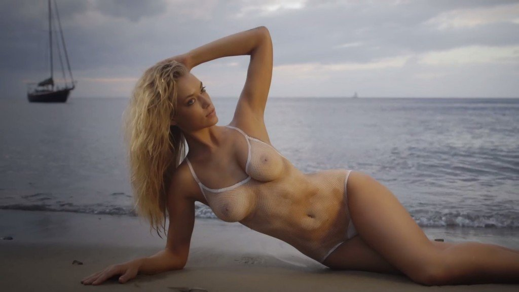 Hannah Ferguson's Body Paint 14 thefappening.so