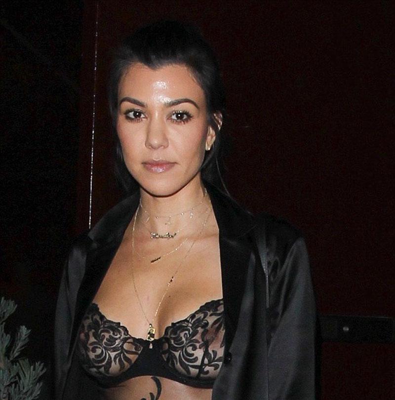 Kourtney Kardashian See Through (3 Photos)