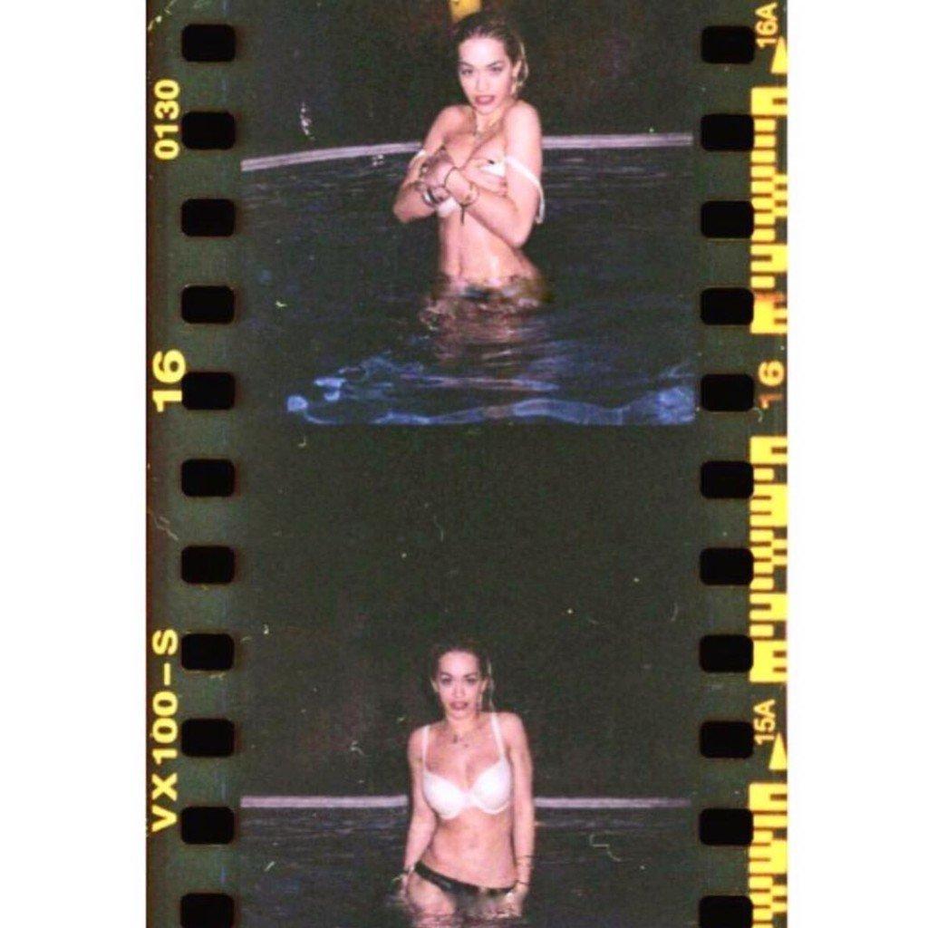 Rita Ora Topless (6 Photos + GIFs)