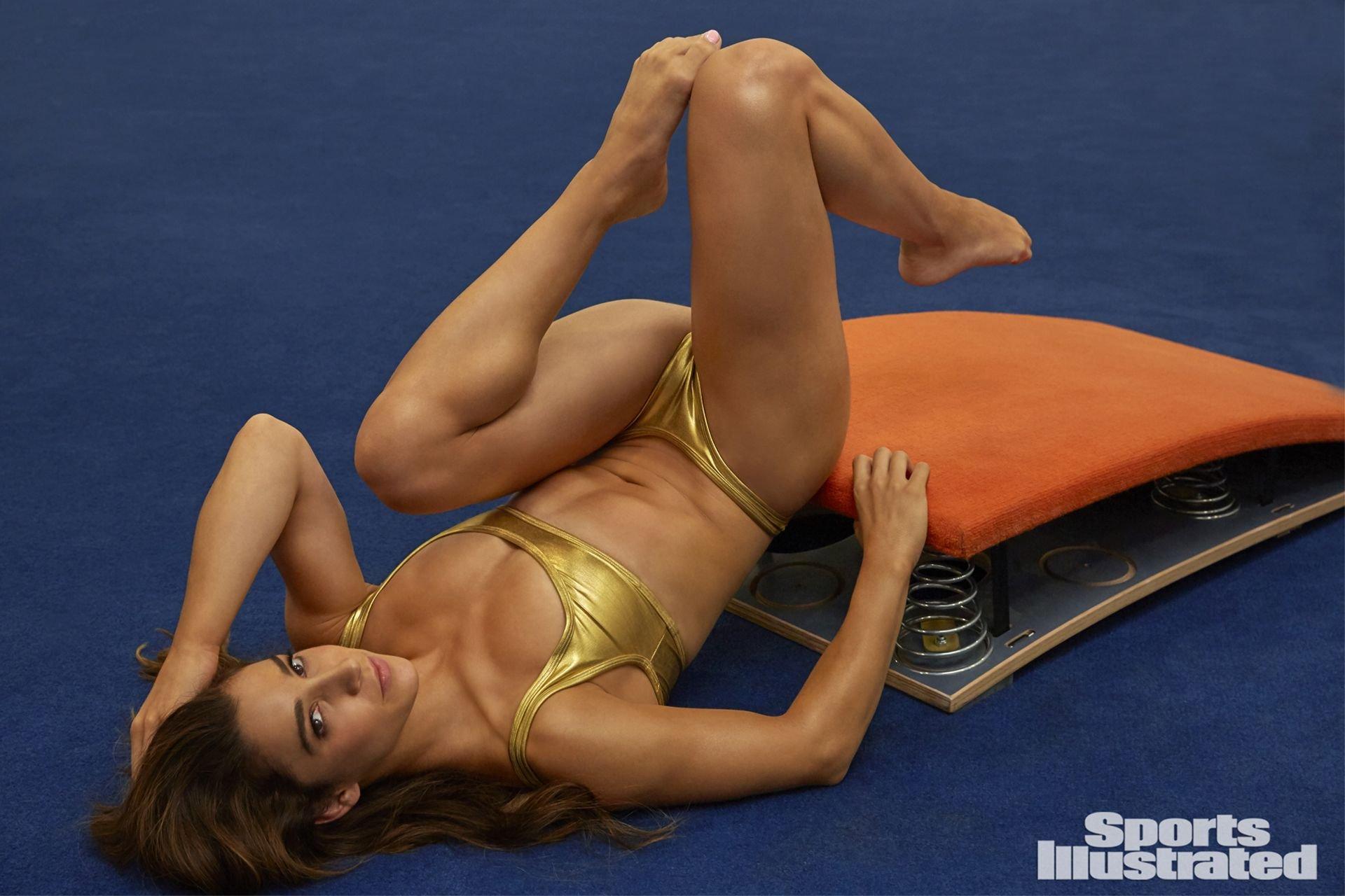Yoga Beautiful Sexy Body Young Woman Stock Photo