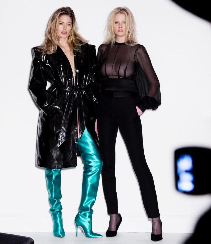 Doutzen Kroes & Lara Stone Nude (8 Photos + Video)