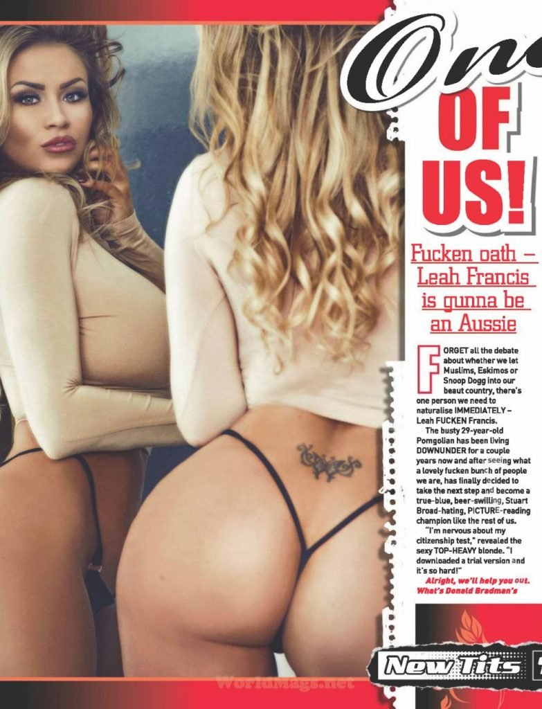 Leah Francis Nude & Sexy (5 Photos)