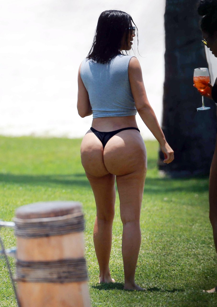 This black butt in thong and still