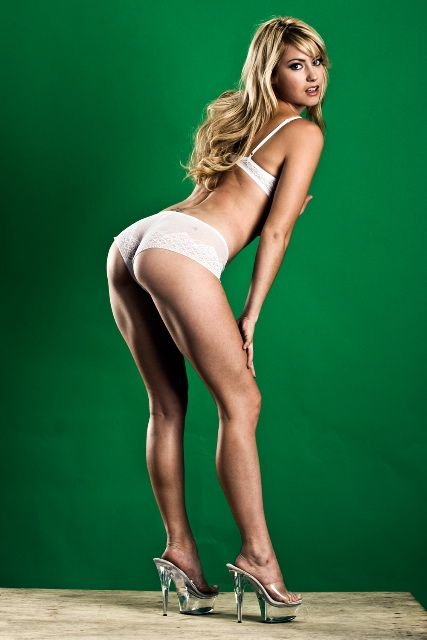 Sexy blonde upskirt public sex