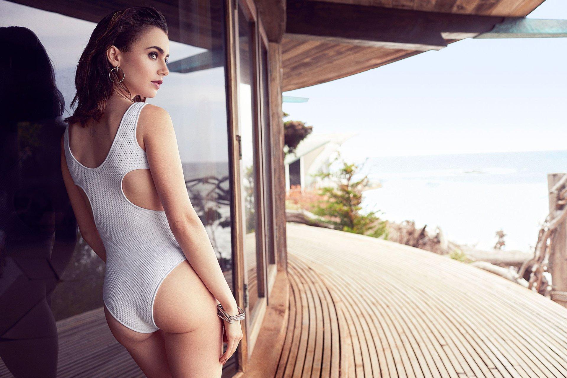 Lily collins caliente porno