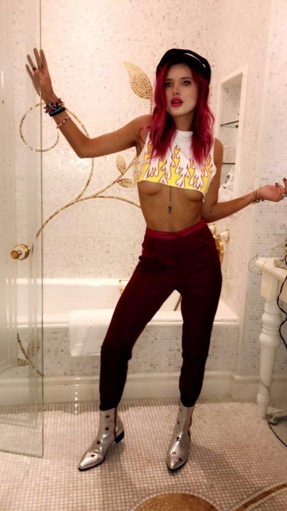 Bella Thorne Underboob (8 Photos + GIFs)