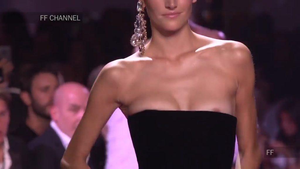 Joséphine Le Tutour Nip Slip (5 Photos + Video)