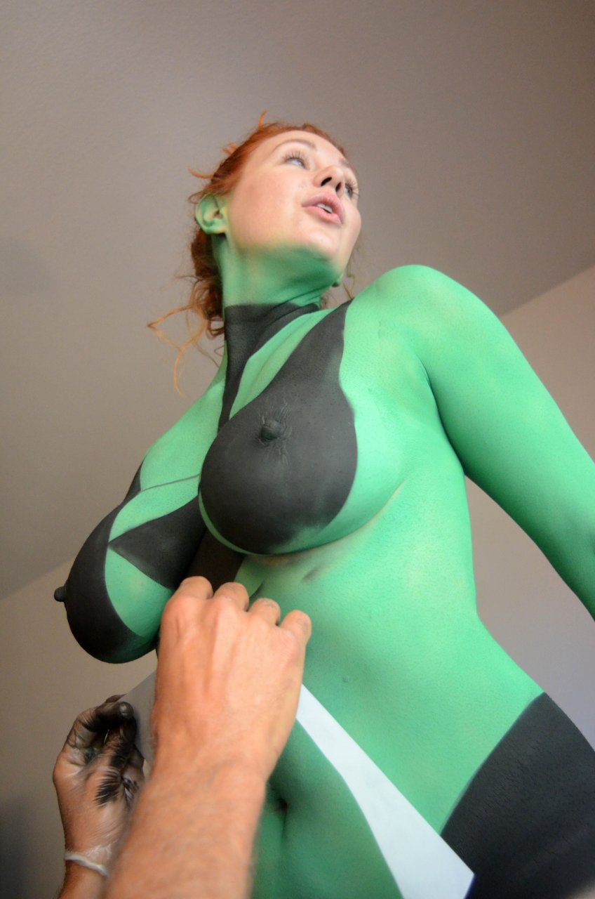 Body paint nude porn