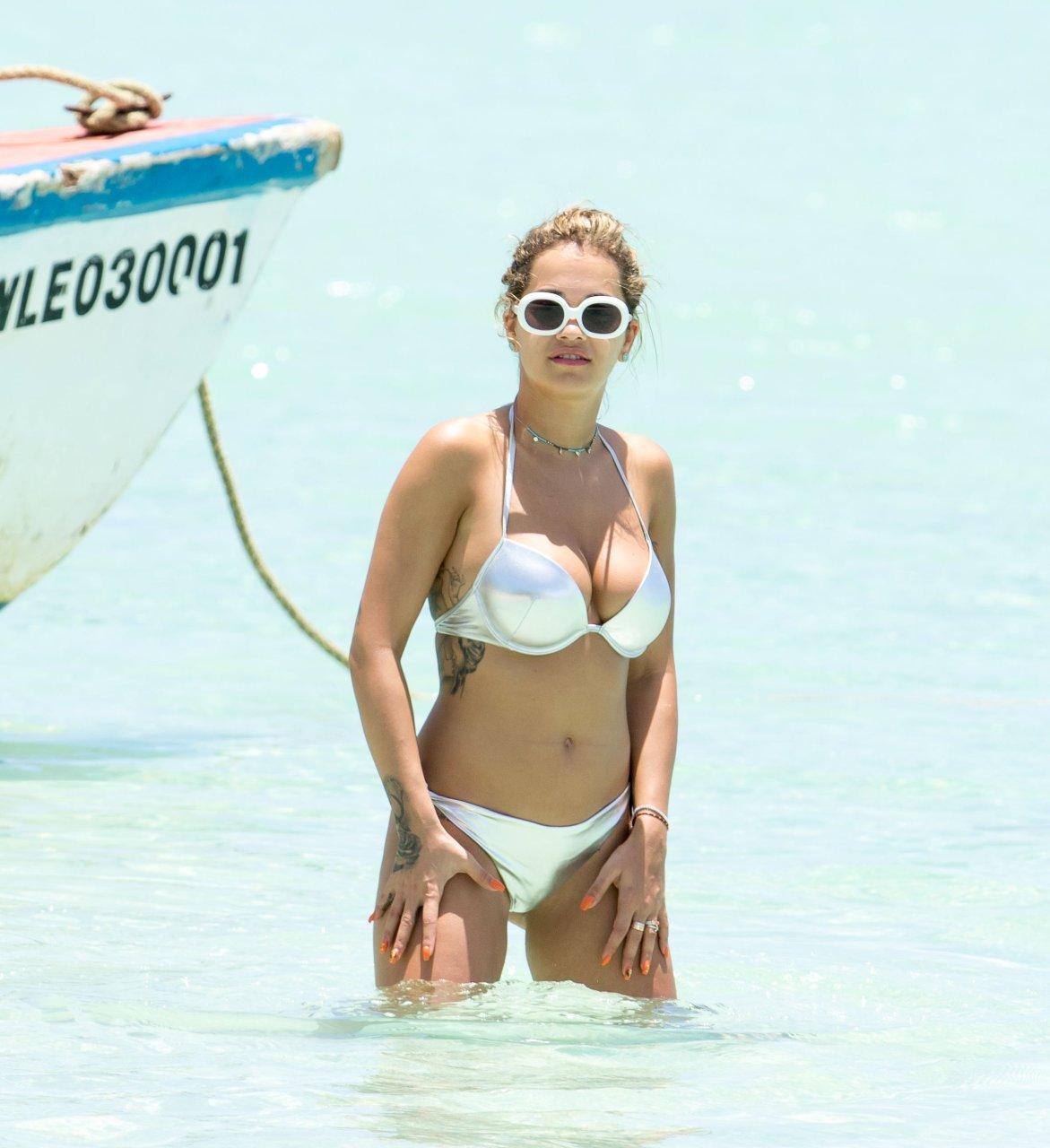 Rita Ora Bikini Slip