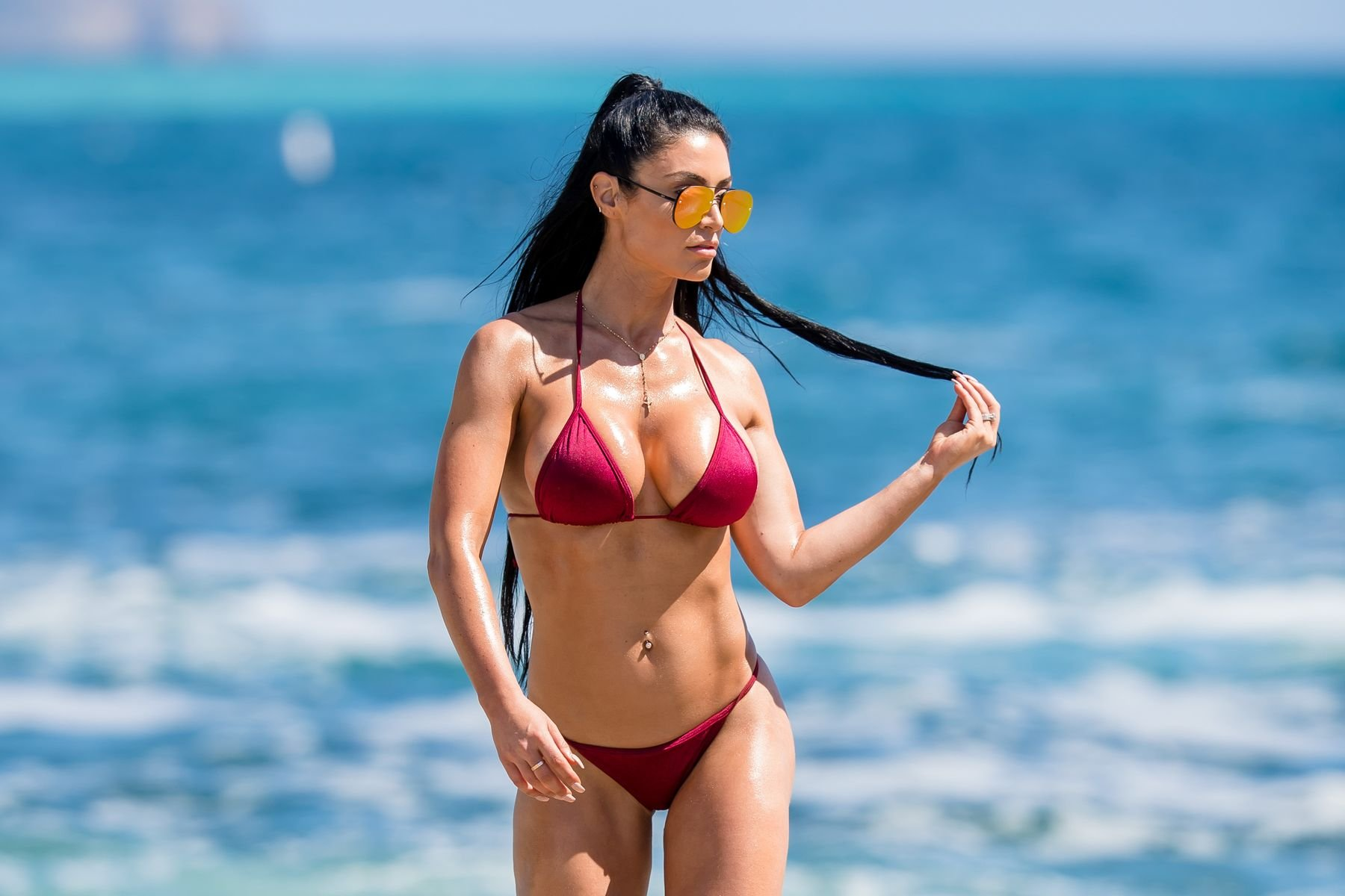 Eva marie bikini shoot behind the scenes