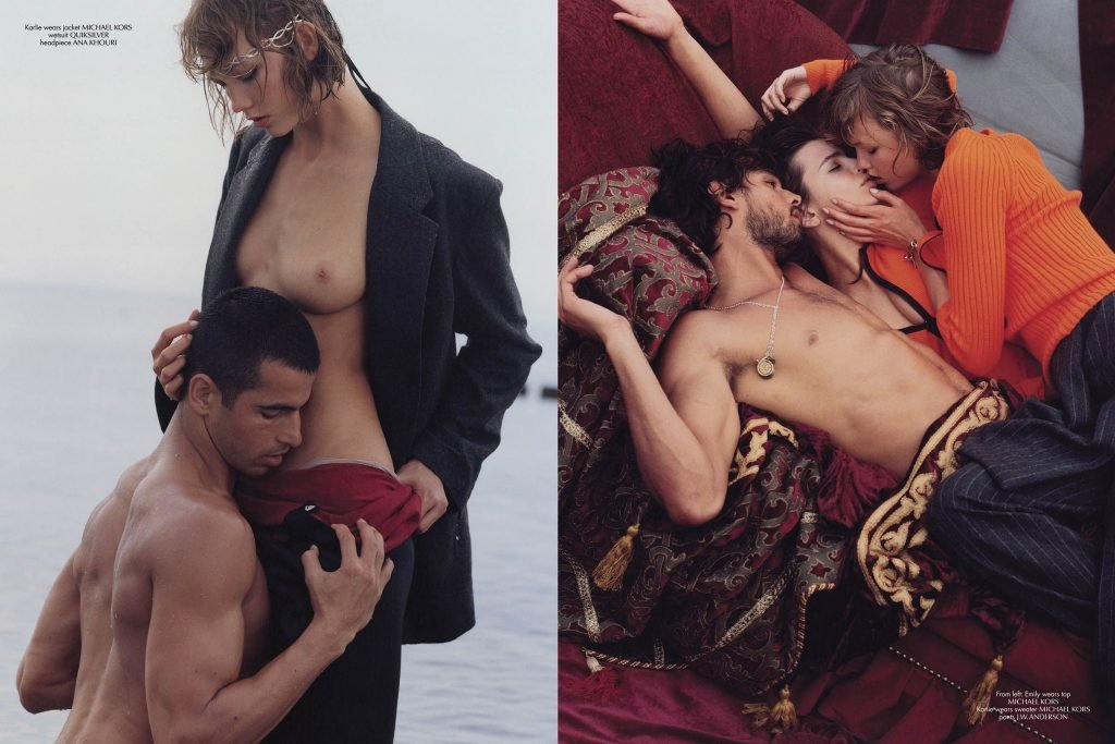Emily Ratajkowski, Karlie Kloss Topless & Sexy (10 Photos)