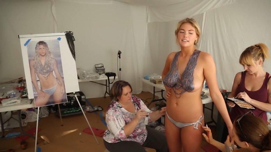Kate Upton Body Paint (8 Pics + Videos & Gifs)