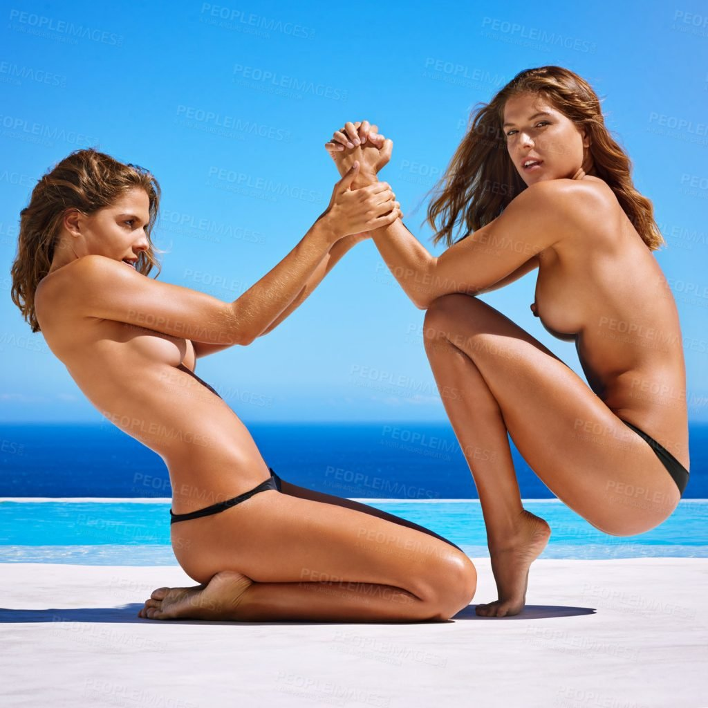 Simone & Roxane Van Rooyen Topless (7 Photos)
