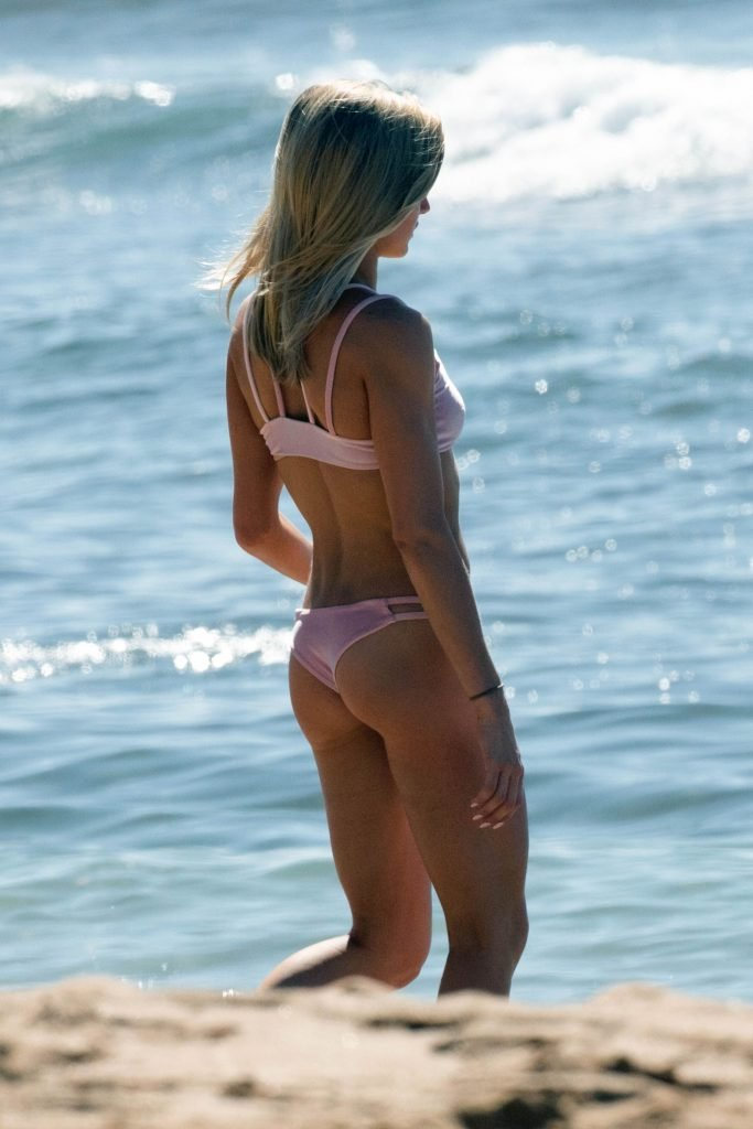 bikini with Arnold photo