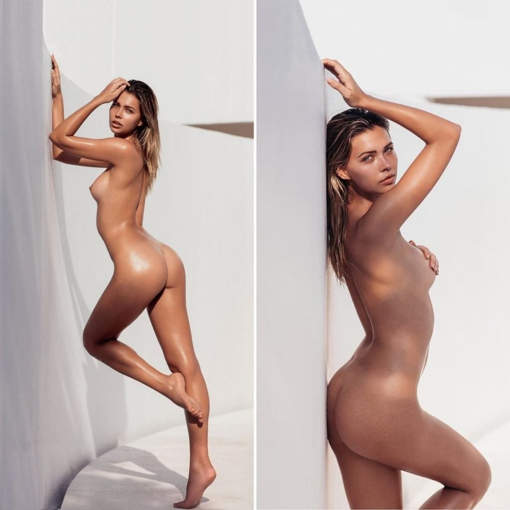naked handstand tits ass