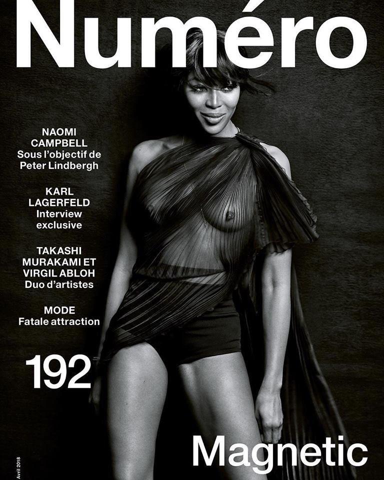 Naomi Campbell See Through (1 New Photo)