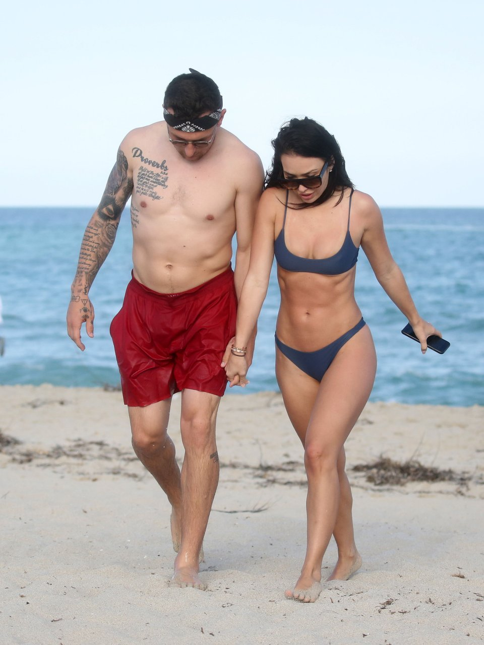 johnny manziel topless beach