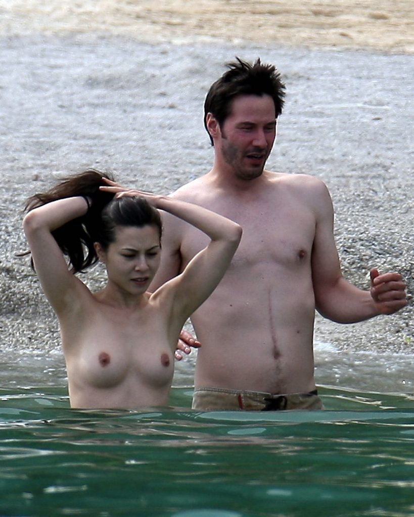 China Chow Goes Topless At The Beach (28 Photos)