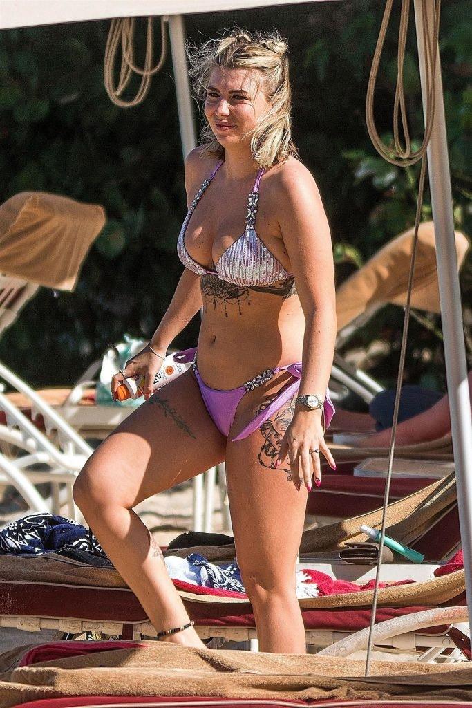 Olivia Buckland Hits The Beach In Barbados (42 Photos)