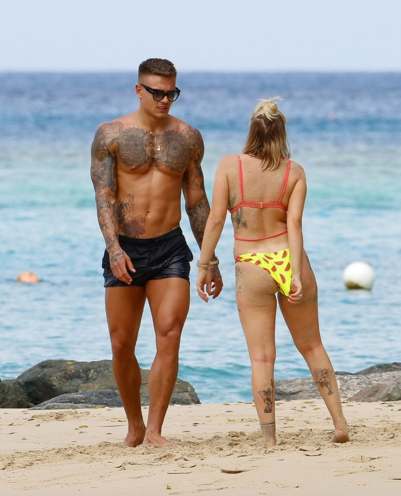 Olivia Buckland Displays Her Tattooed Body in Barbados (29 Photos + Video)