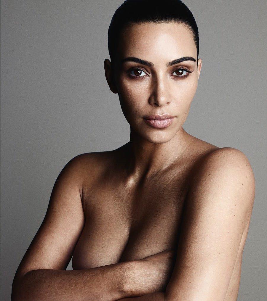Kim Kardashian Topless (4 Photos)