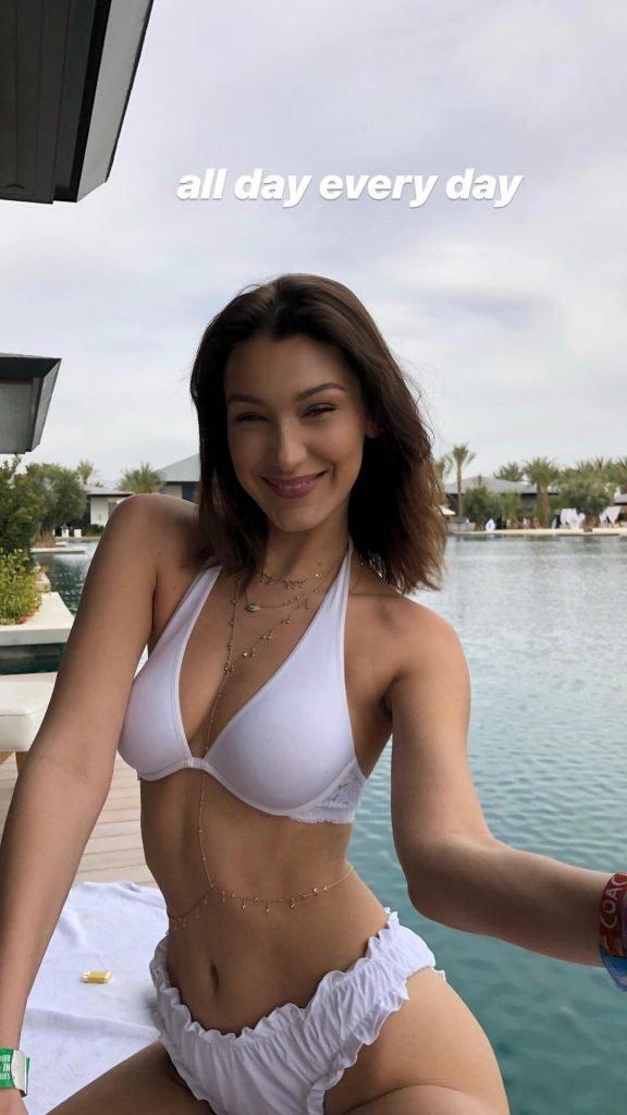 Bella Hadid Sexy & Topless (8 Pics + Gif)