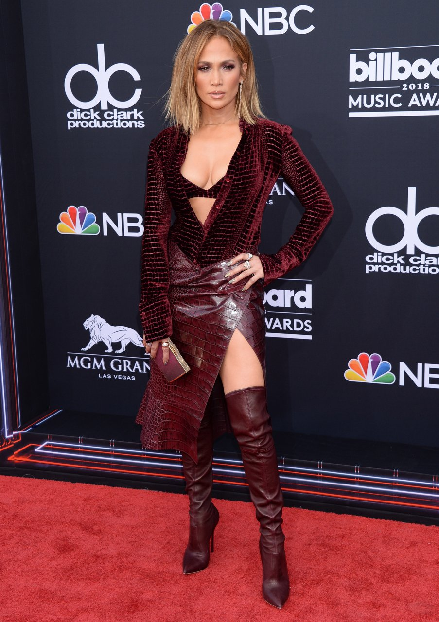 Jennifer Lopez - Sexy Legs and Boobs at 2020 American