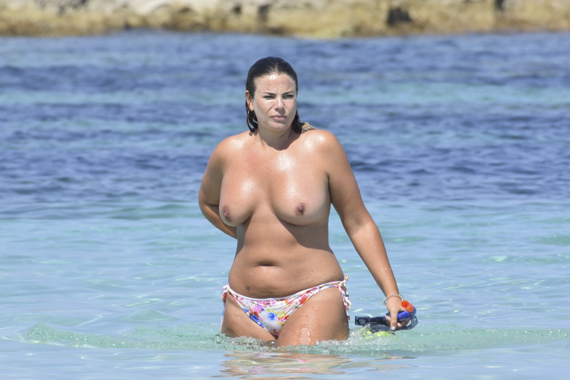 Fiona falkiner topless in holidays in ibiza