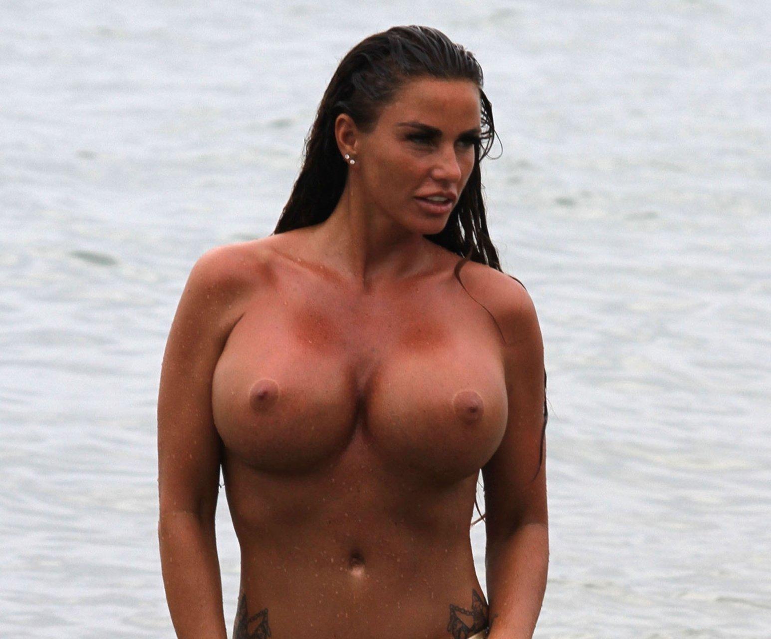 Katie price drunk topless