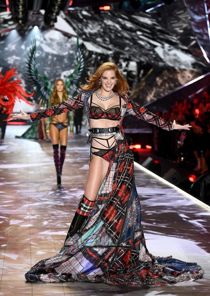 Alexina Graham appeared at the 2018 Victoria's Secret Fashion Show at Pier 94 in New York City, 11/08/2018.