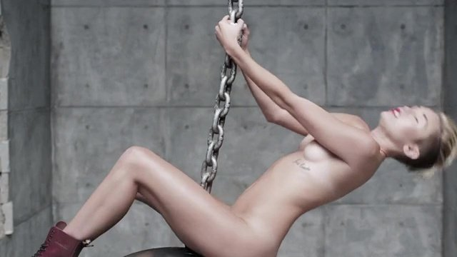 miley cyrus naked for video