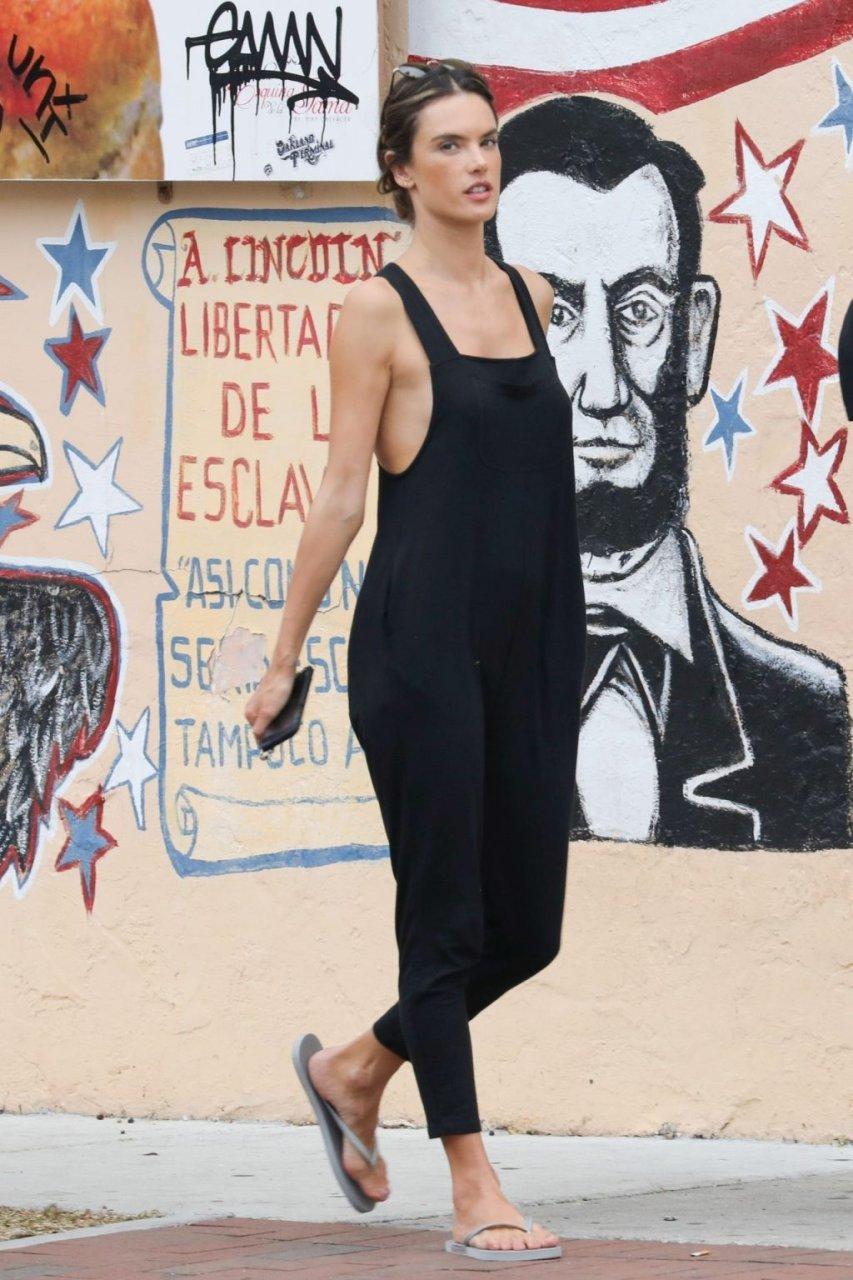Alessandra Ambrosio Braless (31 Photos)