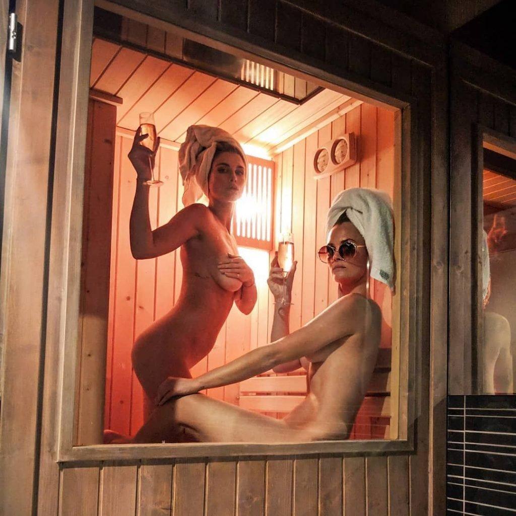 Ashley James and Charlotte de Carle Nude (1 Photo)