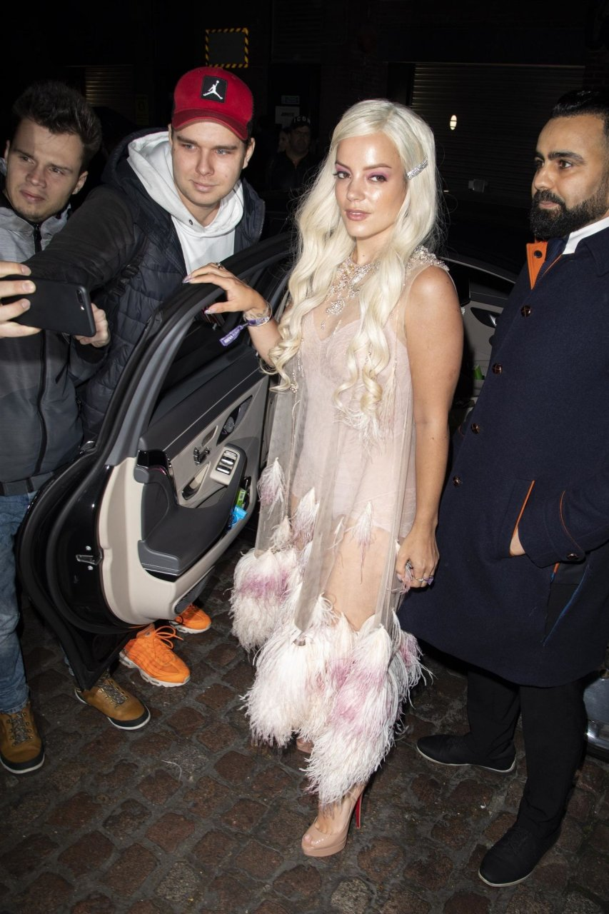 Lily Allen wears See Through at the Chiltern Firehouse in London 20-02-2019
