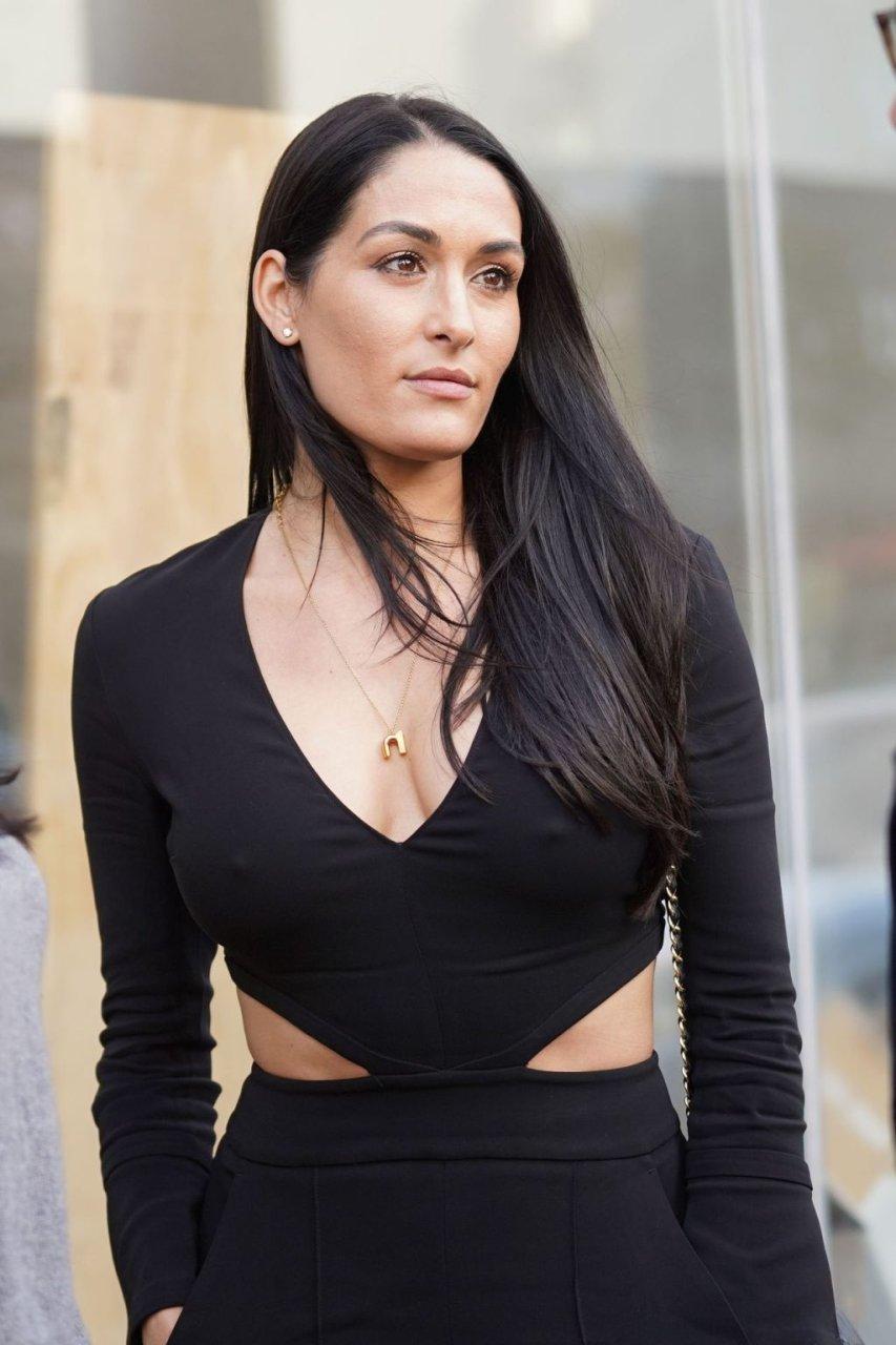 Nikki Bella Braless (22 Photos)