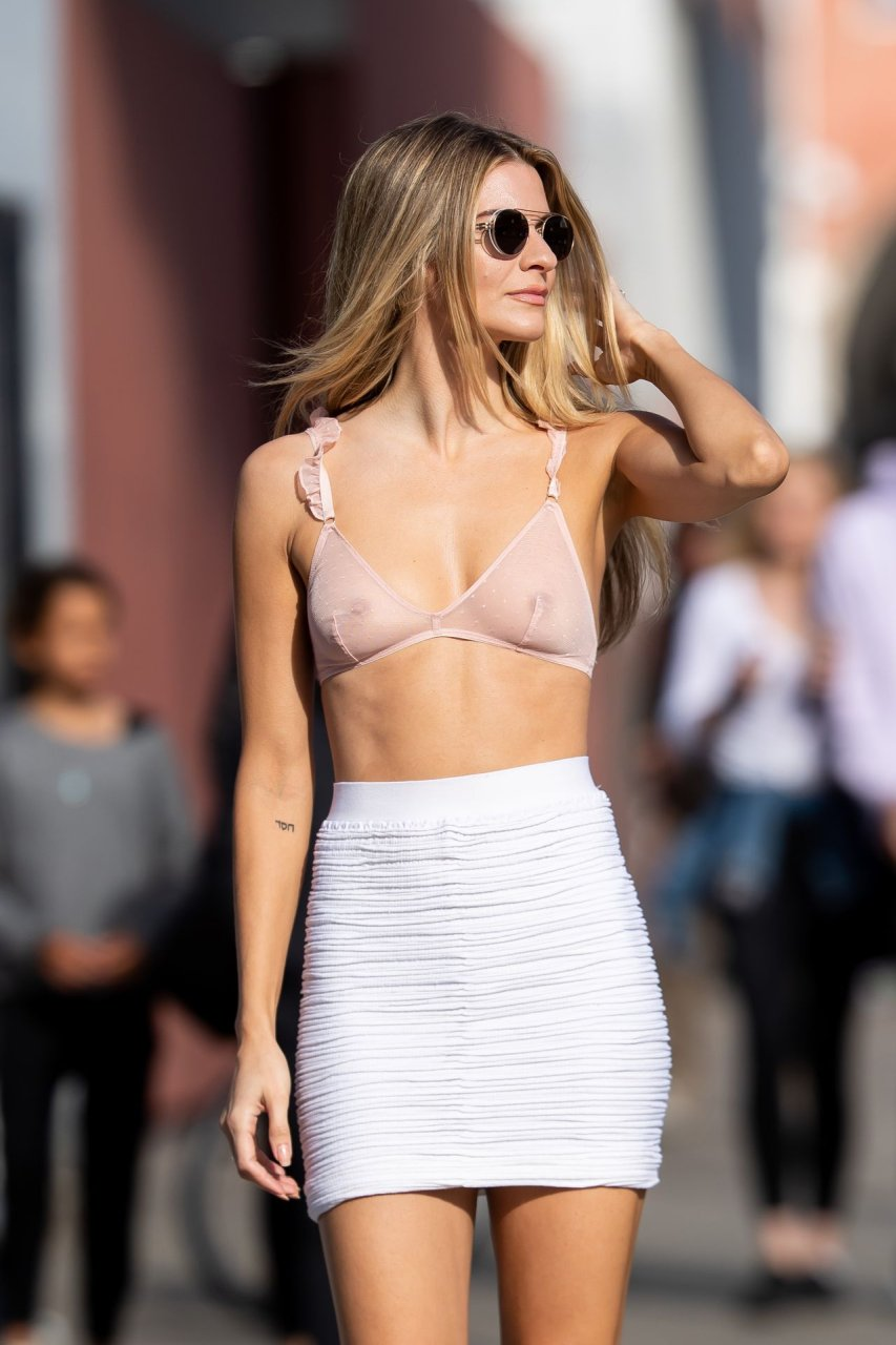 Rachel McCord wearing a see-through bra and panties on a photo shoot in Los Angeles, 02/01/2019.