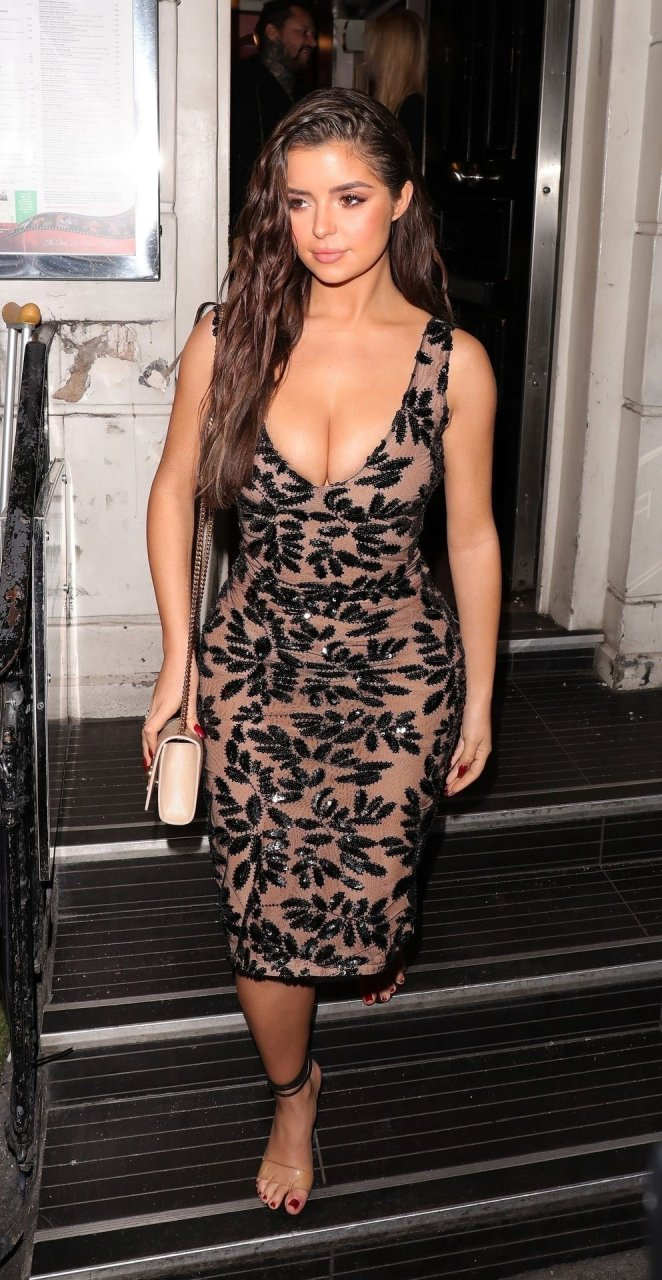 Demi Rose celebrates her 24th birthday heading to The Box nightclub in London's, Soho, 03/27/2019.