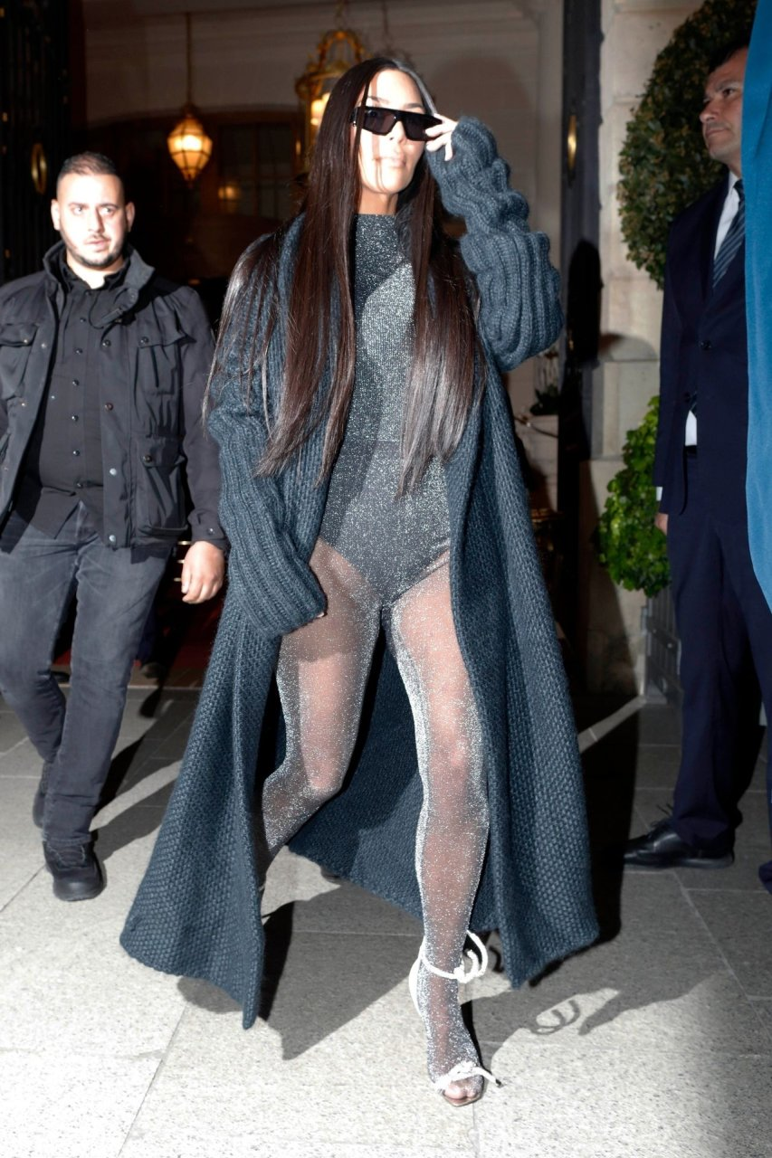 Kim Kardashian night out in Paris 03/25/2019.