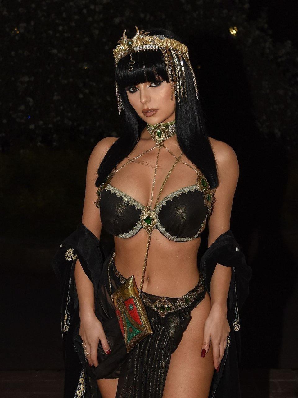 Demi Rose celebrates her 24th birthday with an Egyptian themed party at a mansion in the Ascot countryside 15-04-2019
