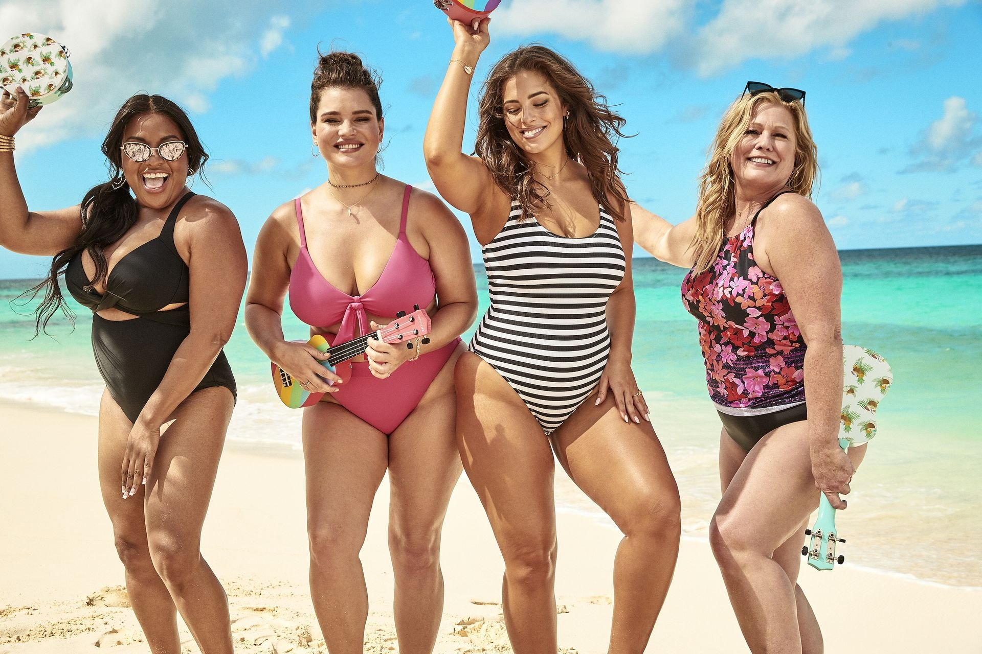 Ashley Graham's new body-confident swimsuit campaign (2019).