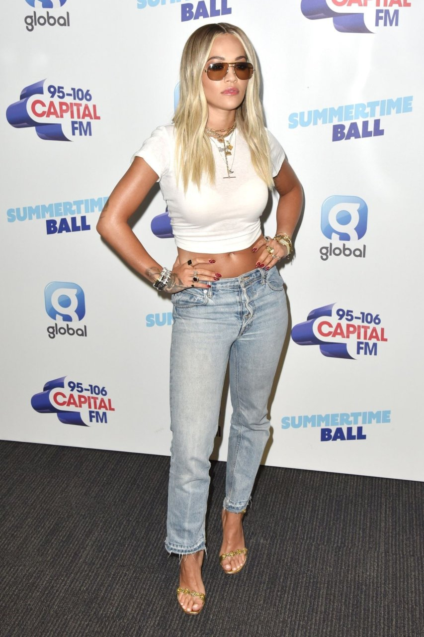 Rita Ora attends a photocall at Capitals Summertime Ball at Wembley Stadium in London, 8-6-2019