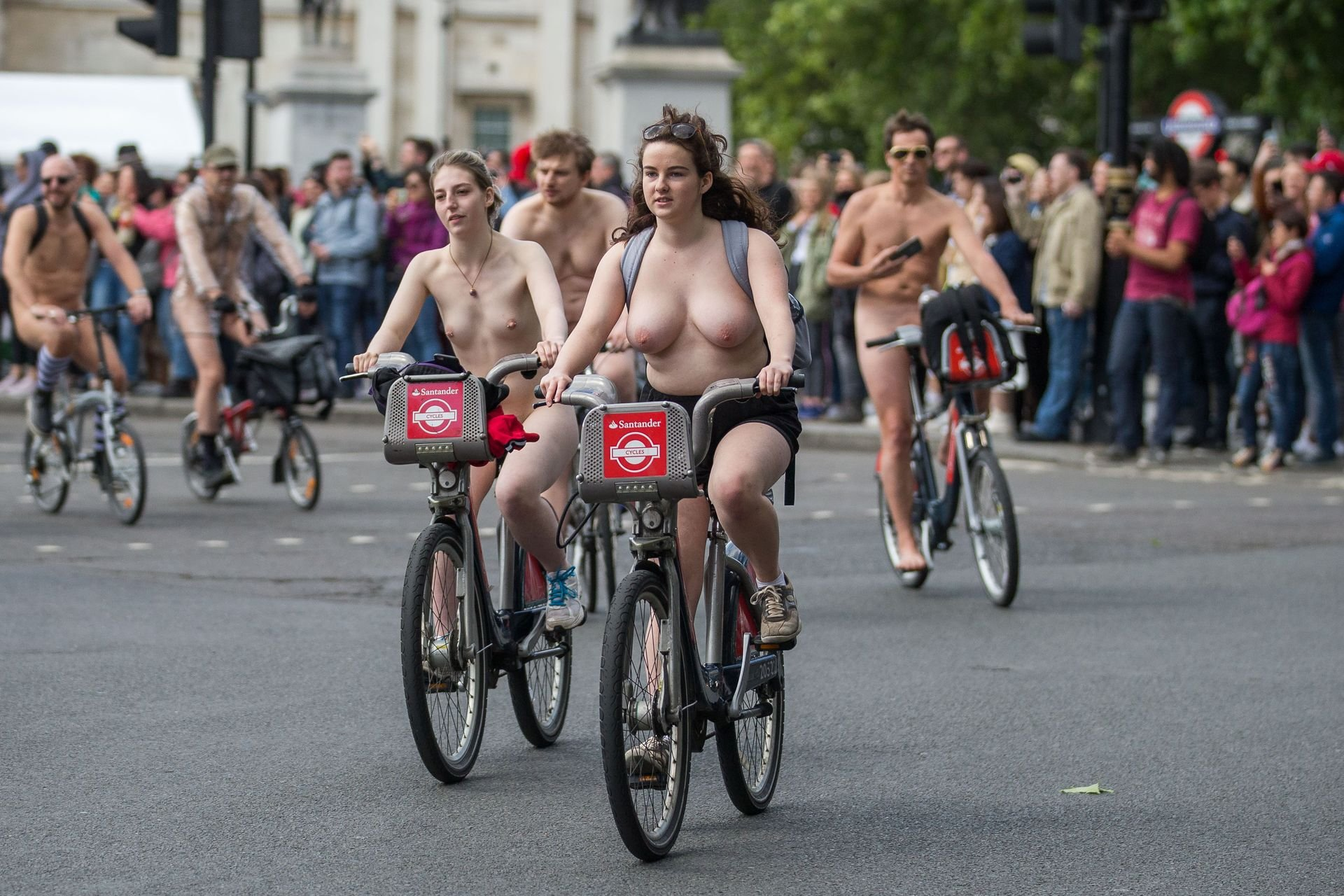 World Naked Bike Ride (WNBR) in London, 06/08/2019.